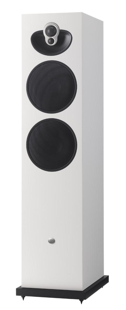 Linn Majik 140 Weiss Vorderseite- High End Audio Lautsprecher Boxen