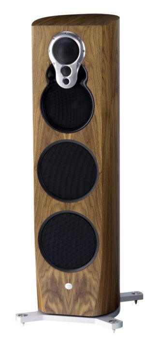 Linn Klimax 350 A Lautsprecher high end audio Nussbaum von vorne