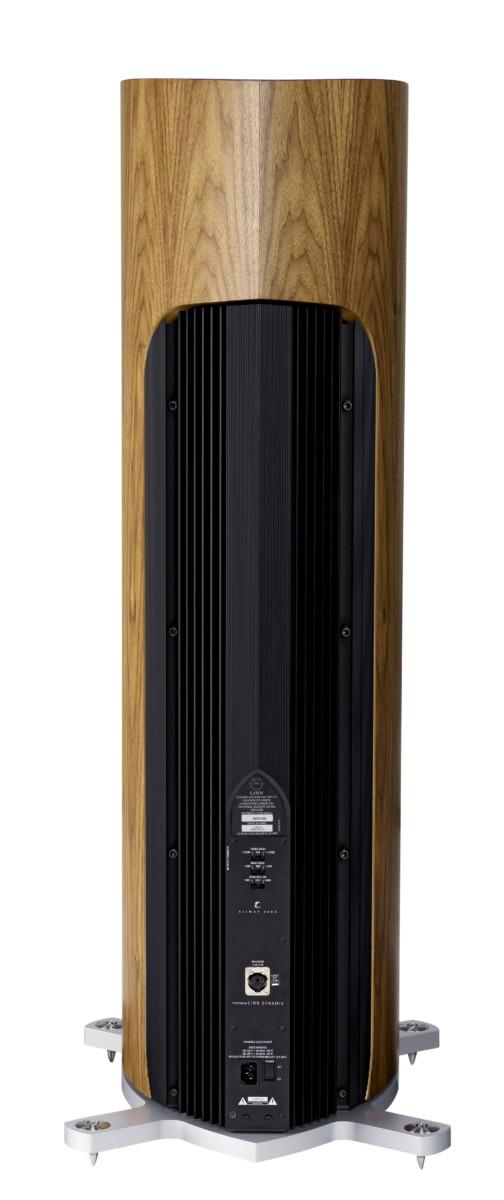 Linn Klimax 350 A Lautsprecher high end audio Nussbaum von hinten anschlüsse