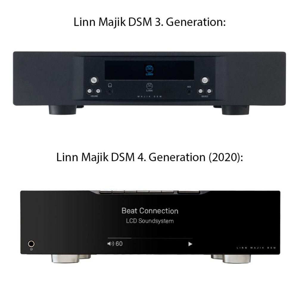 linn majik dsm version 3 und 4 vergleich neues design